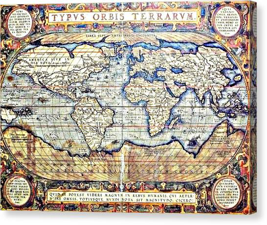 Hemisphere World  Canvas Print