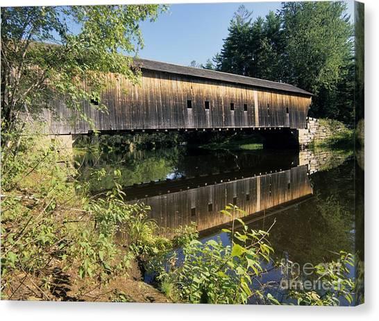 Hemlock Covered Bridge - Fryeburg Maine Usa. Canvas Print