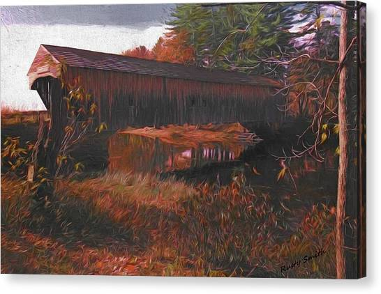 Hemlock Covered Bridge Canvas Print