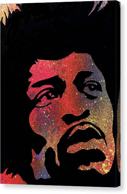 Hendrix Canvas Print by Dennis Wells