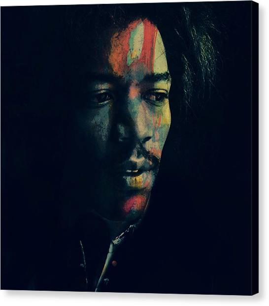 Jimi Hendrix Canvas Print - Hendrix  by Paul Lovering