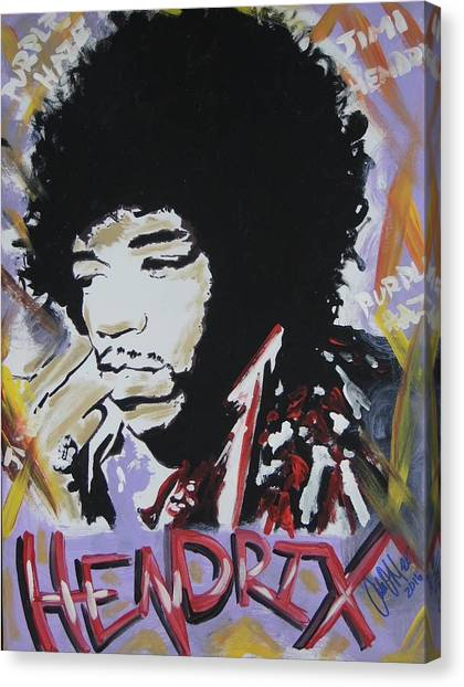 Hendrix Thoughts Canvas Print