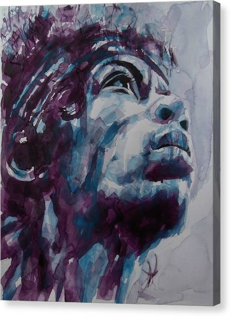 Jimi Hendrix Canvas Print - Hendrix Woodstock  by Paul Lovering