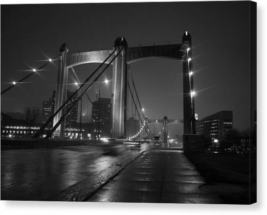Mississippi River Canvas Print - Hennepin Avenue Bridge by Heidi Hermes