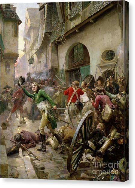 Street Fighter Canvas Print - Henri De La Rochejaquelein At The Battle Of Cholet by Paul Emile Boutigny