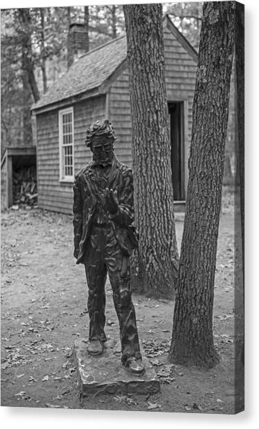 Walden Pond Canvas Print - Henry David Thoreau House Walden Pond Concord Ma by Toby McGuire