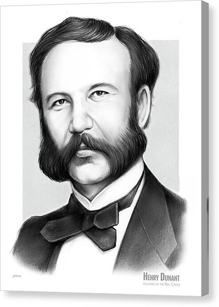 Charities Canvas Print - Henry Dunant by Greg Joens