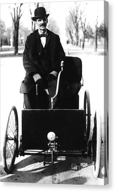 Minimum Wage Canvas Print - Henry Ford, American Industrialist by Science Source