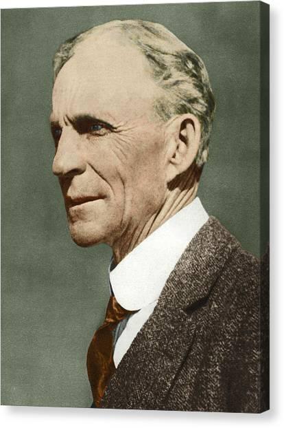 Ford Canvas Print - Henry Ford, Us Car Manufacturer by Sheila Terry