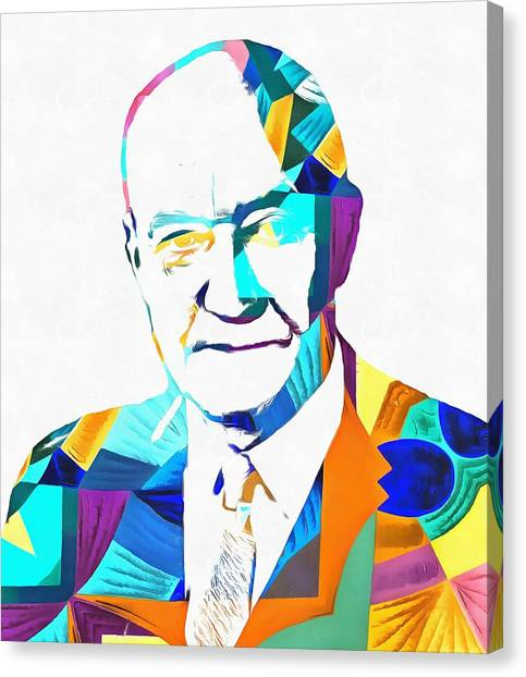 Libertarian Canvas Print - Henry Hazlitt Colorful Abstract by Dan Sproul