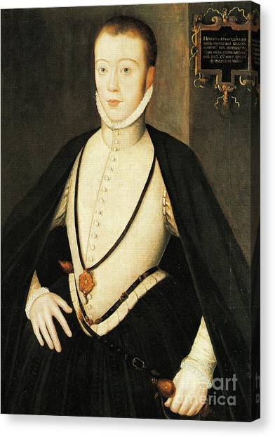 Henry Stewart Lord Darnley Married Mary Queen Of Scots 1565 Canvas Print