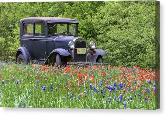 Canvas Print featuring the photograph Henry The Vintage Model T Ford Automobile by Robert Bellomy