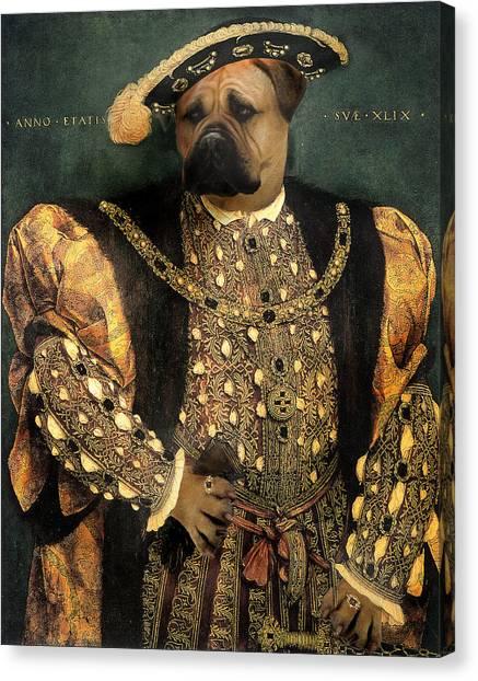 Henry Viii As A Mastiff Canvas Print by Galen Hazelhofer