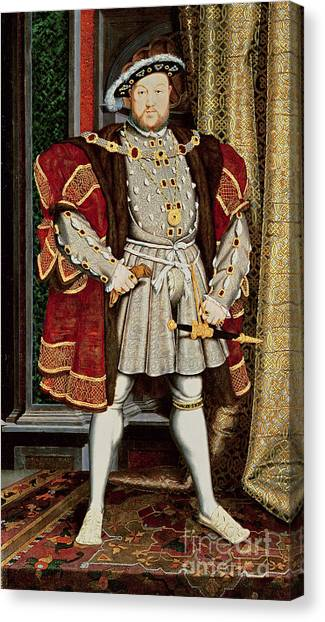 Rulers Canvas Print - Henry Viii by Hans Holbein the Younger