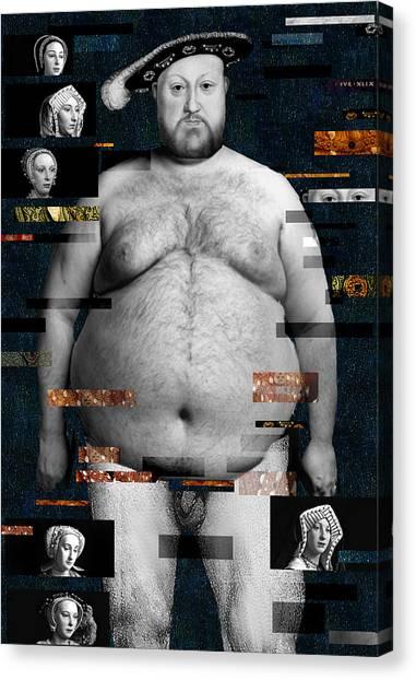 Henry Viii Nude Canvas Print