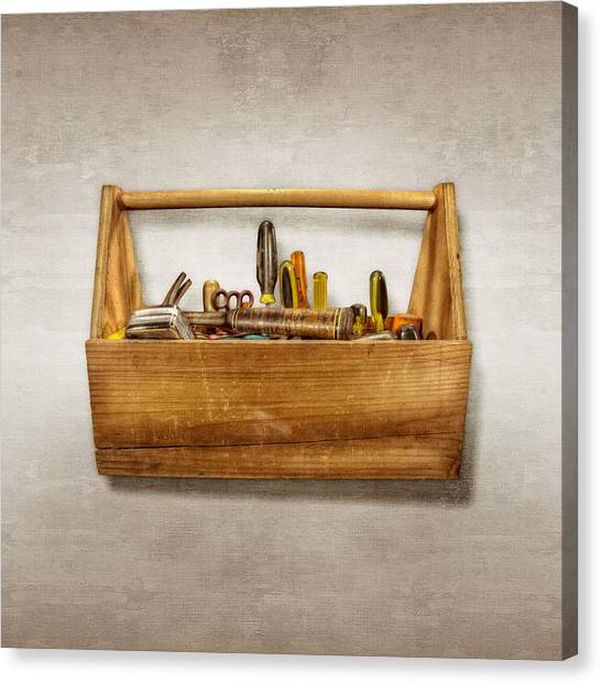 Renovation Canvas Print - Henry's Toolbox by YoPedro