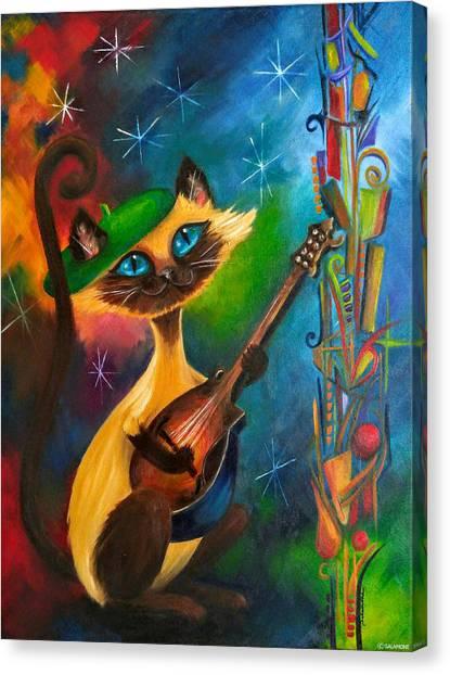 Hepcat Meowndolin Canvas Print