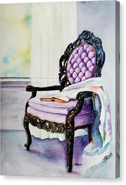Her Chair Canvas Print by Kathy Nesseth