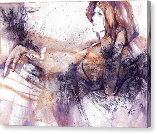 Her Elegance Canvas Print by Joan  Jones