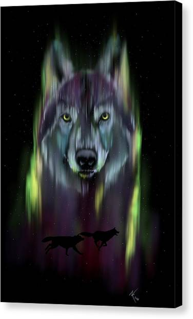 Her Eyes Were Like Twin Moons Canvas Print