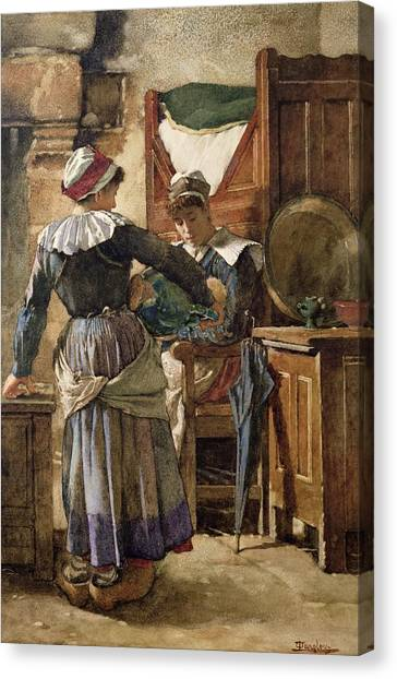 Care Bears Canvas Print - Her First Born by Walter Langley