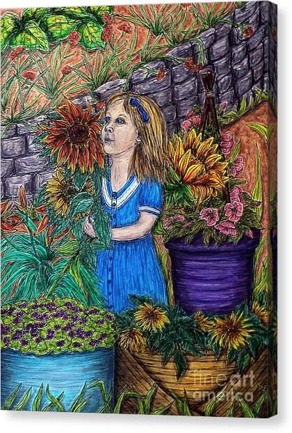 Her First Garden Canvas Print