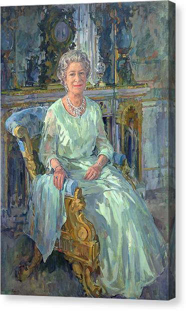 Rulers Canvas Print - Her Majesty The Queen by Susan Ryder