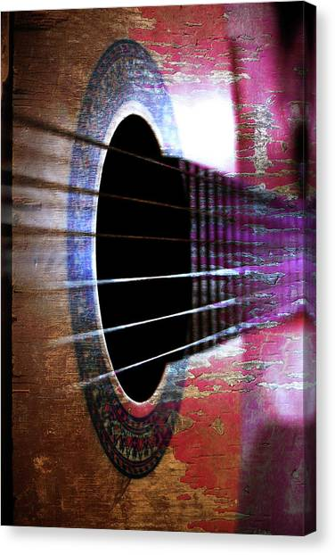 Her Old Guitar Canvas Print by Rozalia Toth