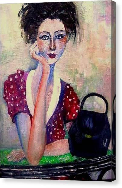 Her Purse Canvas Print
