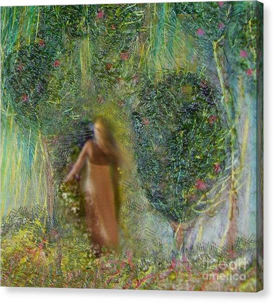 Her Secret Garden Canvas Print by Michaela Kraemer