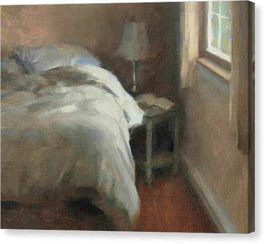 Interior Scene Canvas Print - Her Side by Anna Rose Bain