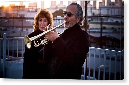 Trombones Canvas Print - Herb Alpert by Maye Loeser