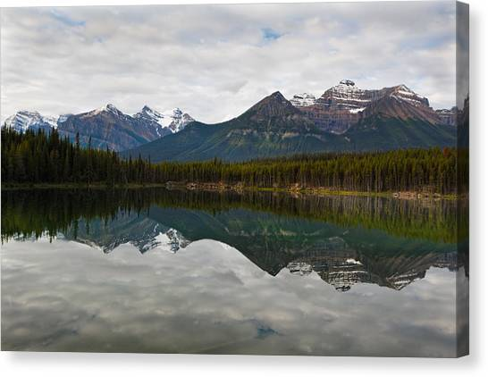 Herbert Lake Reflections  Canvas Print by George Oze