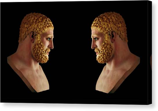 Canvas Print featuring the mixed media Hercules - Blondes by Shawn Dall