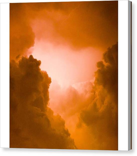 God Canvas Print - Here Are Some #clouds With #lightening by Alex Snay