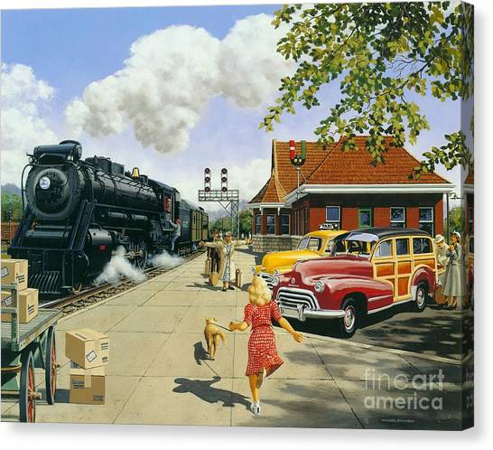 Artist Michael Swanson Canvas Print - Here At Last by Michael Swanson
