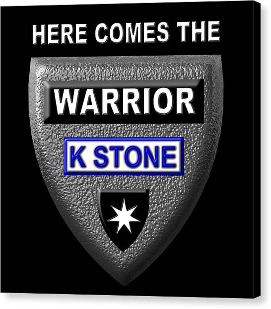 Canvas Print - Here Comes The Warrior by K STONE UK Music Producer
