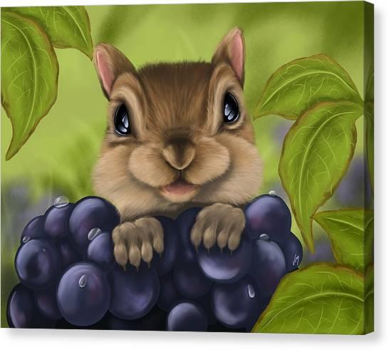 Squirrels Canvas Print - Here I Am by Veronica Minozzi