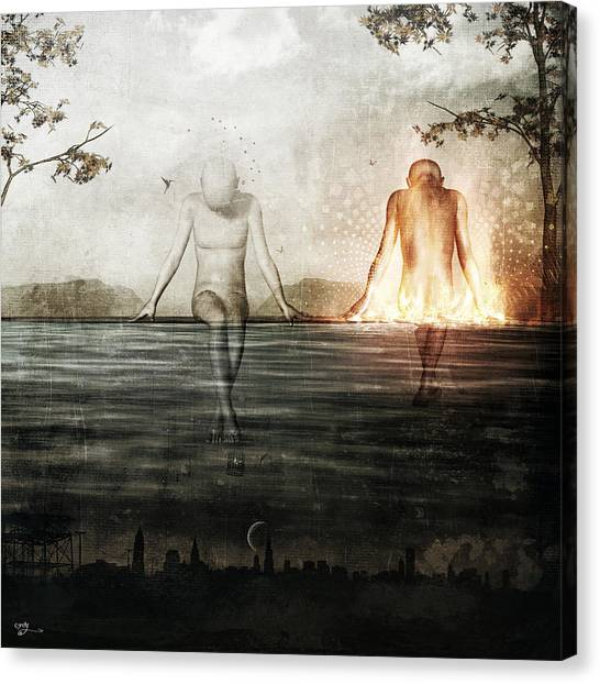 Here We Divide Canvas Print by Cameron Gray