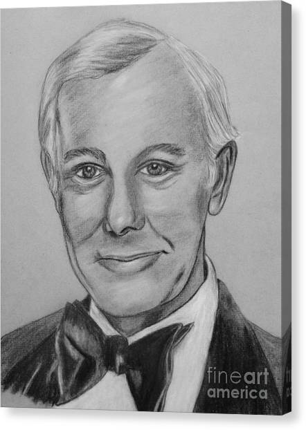 Johnny Carson Canvas Print - Here's Johnny by Sharon Ackley