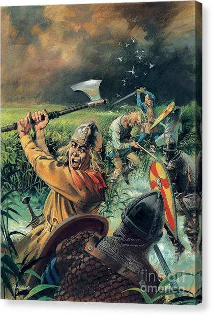 Axes Canvas Print - Hereward The Wake by Andrew Howat