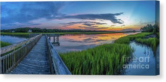Heritage Shores Nature Preserve Sunrise Canvas Print