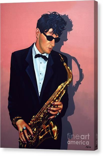 Saxophone Canvas Print - Herman Brood by Paul Meijering