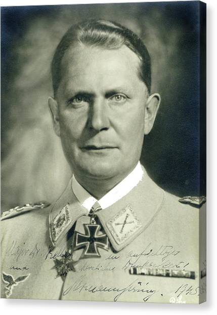Herman Goering Autographed Photo 1945 Color Added 2016 Canvas Print