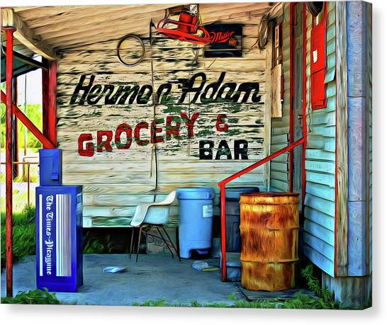 Grocery Store Canvas Print - Herman Had It All - Paint by Steve Harrington