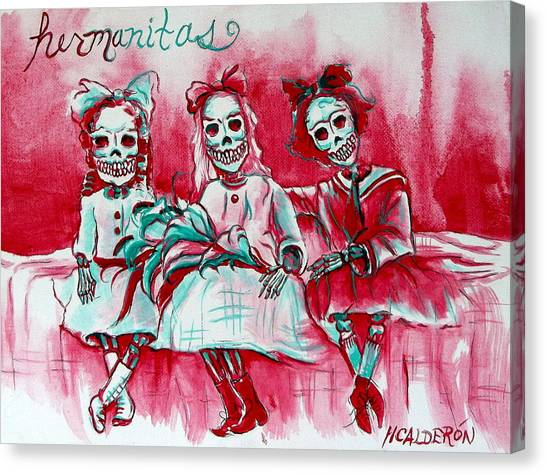 Hermanitas Canvas Print