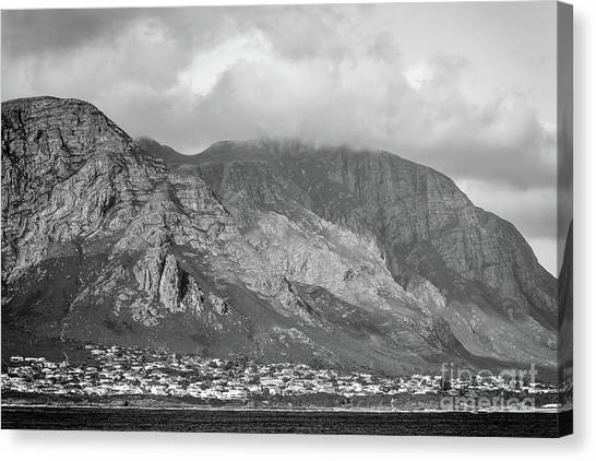 Hermanus south africa canvas print hermanus at sunset black and white by tim hester