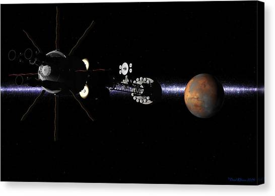 Hermes1 In Sight Of Mars Canvas Print