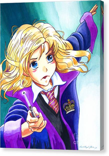 Hermione Canvas Print by David Lloyd Glover