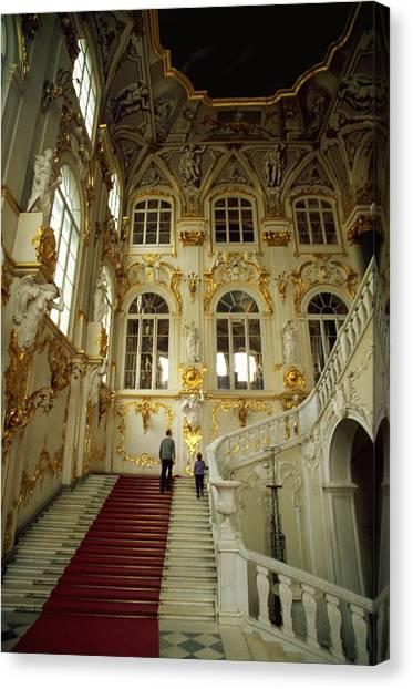Hermitage Staircase Canvas Print